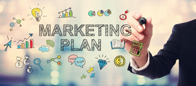 marketing plan options infographic